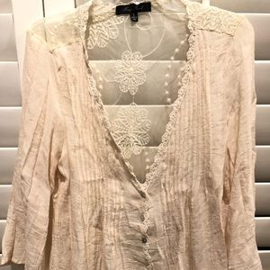 Boutique brand lace blouse size small